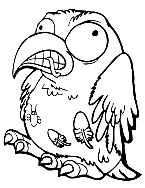 trash pack cruddy crow coloring page free printable