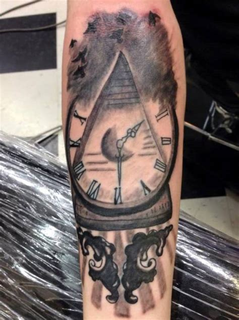 pyramid clock tattoo 20 pyramid tattoos tattoofanblog