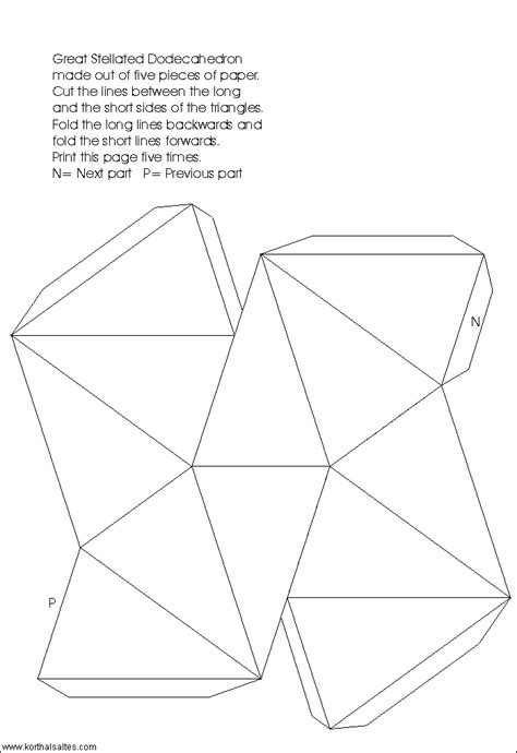 How To Make A Dodecahedron Out Of Paper - paper great stellated dodecahedron
