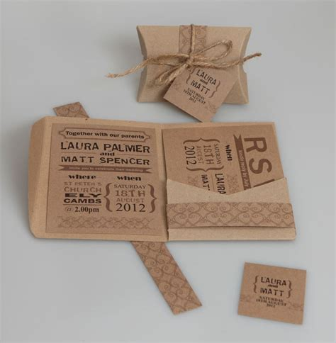 A6 Wedding Invite Template by Brown Kraft A6 Pocketfold Wallets Pack Of 50
