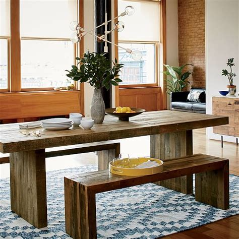 emmerson reclaimed wood dining table emmerson reclaimed wood expandable dining table elm