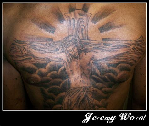 jesus piece tattoo jesus chest by jeremyworst