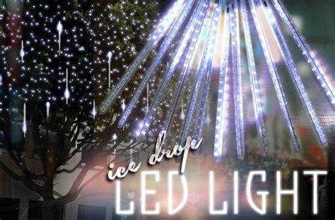 4m white led snowfall icicle lights 50cm drop 50 led drop lights promo