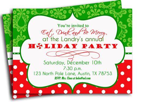Free Printable Christmas Party Invitations Templates   Graduations Invitations