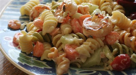 tasty pasta salad easy peasy grilled shrimp pasta salad tasty kitchen a