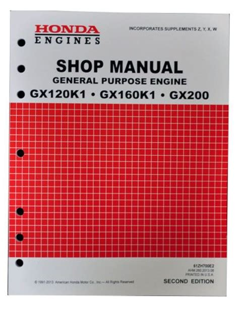 honda gx160 service manual honda gx120 gx160 gx200 engine service repair shop manual