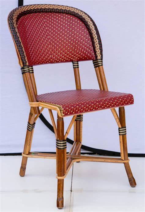 Bamboo Bistro Chairs Fantastic Set Of Four Maison Drucker Bastille Bamboo Bistro Chairs At 1stdibs