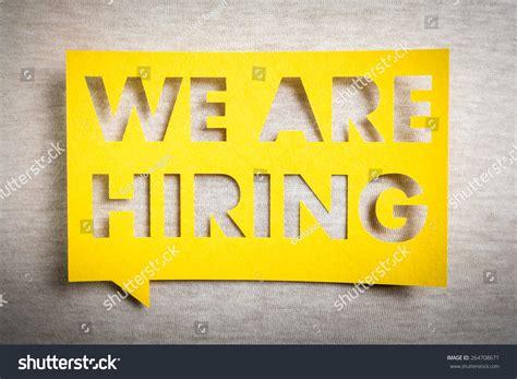 banner design jobs we hiring yellow banner on white stock photo 264708671