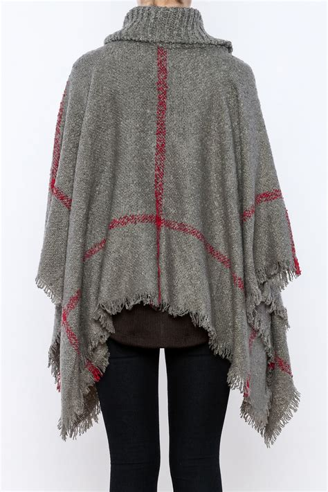 Trend Cowl Necks Get Their Back by Two S Company Cowl Neck Poncho From Cincinnati By Trend