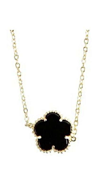 be je designs black clover necklace from new york by let s