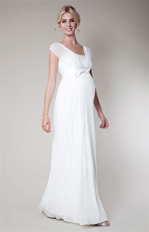 Wedding Dress Clothing by Silk Maternity Wedding Gown Ivory Maternity