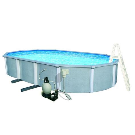 blue wave 54 in zanzibar oval 8 in top rail pool package