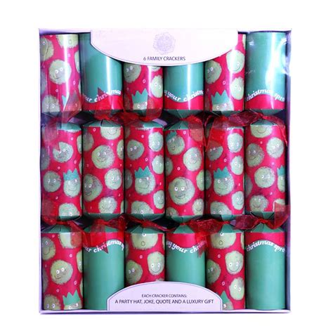 6 family christmas crackers 15 quot sprouts buy online