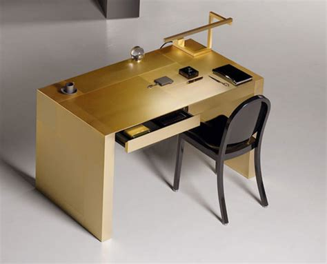 Armani Desk limited edition armani casa s gold plated adelchi writing desk extravaganzi