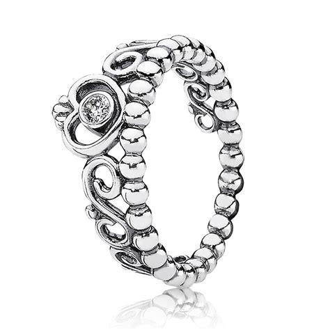 pandora rings pandora silver cubic zirconia tiara ring 190880cz the
