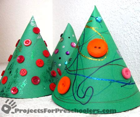 Paper Cone Craft - how to make a paper cone tree 1 cut