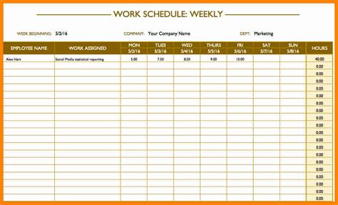 sle of work schedule template excel work schedule template 28 images 7 work calendar