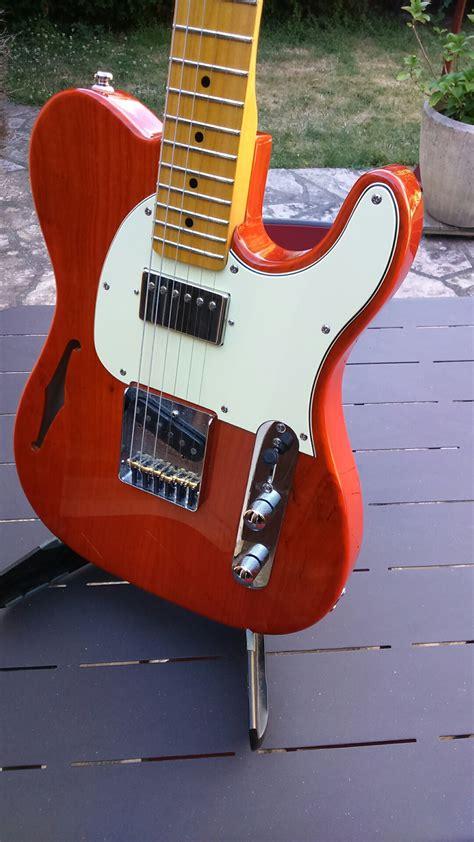 G L Tribute Asat Classic Bluesboy Semi Hollow Clear Orange Maple Neck tribute asat classic bluesboy semi hollow g l audiofanzine