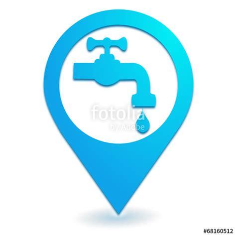 Logo Robinet by Quot Robinet Point D Eau Sur Symbole Localisation Bleu