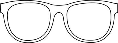 glass template 6 best images of sun glasses outline printable