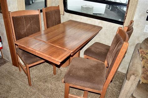 rv folding dinette table rv dining chairs with storage dining room ideas