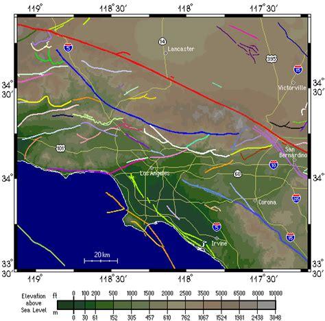 louisiana fault map los angeles earthquake map