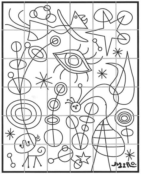 coloring book miro colouring 3791370391 miro mural art projects for kids