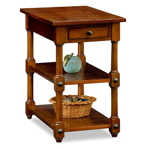 Ideas Chairside End Tables Design Leick Cardamon Tiered Shelf Chairside End Table Home Furniture Living Room Furniture