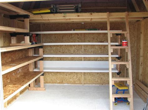 build wood storage shelves garage