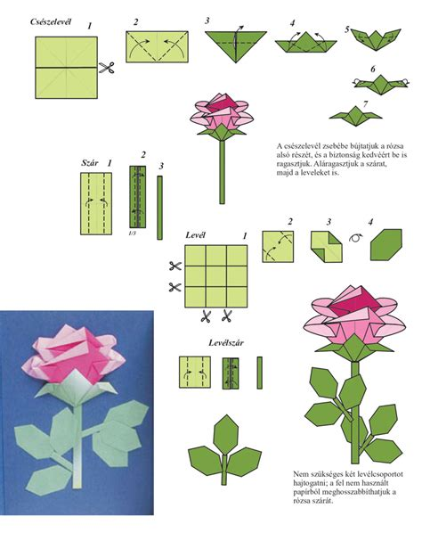 how to make a paper with stem easy best flowers and