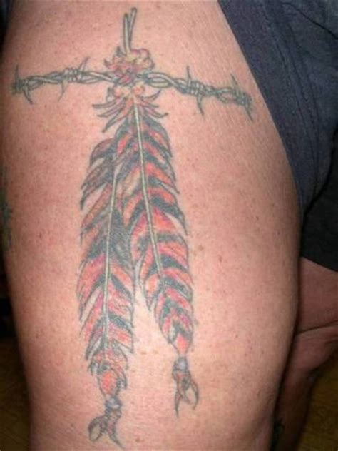 tattoo feather on thigh feather tattoo on thigh