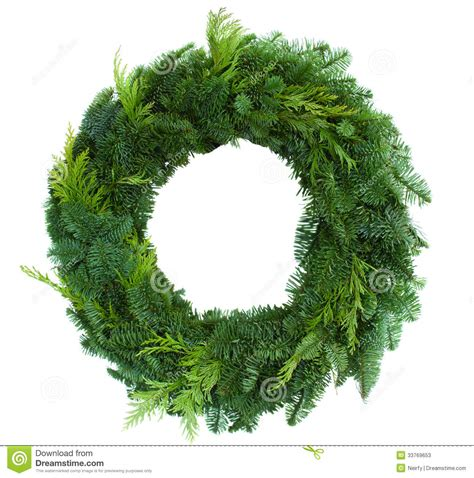 green christmas wreath stock photos image 33769653