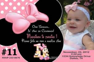 20 printed baby minnie mouse first birthday party