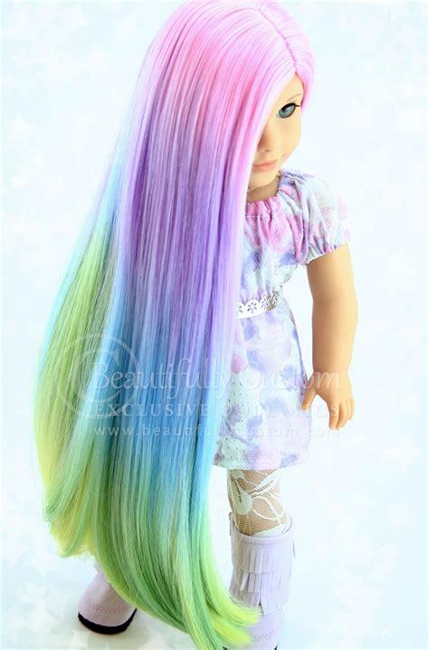 explore luxury wigs pretty pastel deluxe luxury doll wig for custom american