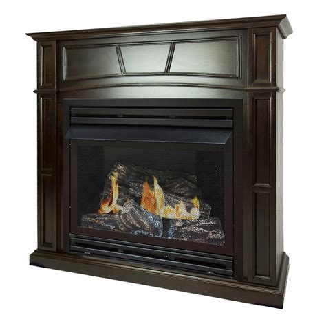 propane gas fireplace pleasant hearth 46 in size ventless propane gas