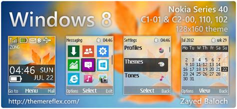 nokia 2690 battery meter themes windows 8 screen theme for nokia c1 01 c2 00 2690 128