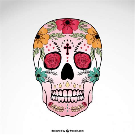 imagenes de calaveras coloridas calavera decorada descargar vectores gratis