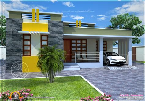 Small Villa Plans by House Plan Of A Small Modern Villa Home Kerala Plans