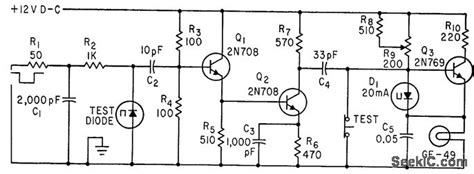 photo diode switching time tunnel diode switching time tester electrical equipment circuit circuit diagram seekic