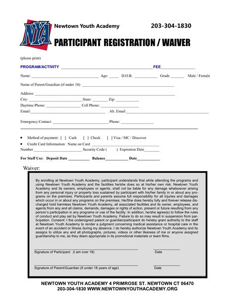 sport registration form template documents ridgefield youth lacrosse