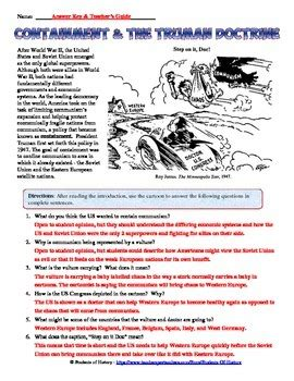 Doctrine Worksheet by Containment And Truman Doctrine Analysis Worksheet