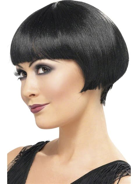 20s Flapper Bob Wig   Black   Fancy Dress Forever