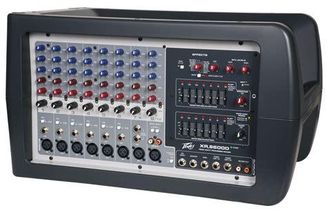 Mixer Lifier peavey xr 8600d pro audio dj 8 channel powered mixer 600 watt pa speaker ebay