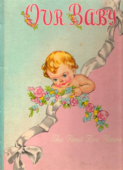 pretty baby books vintage grey a vintage baby book
