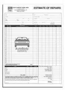 automotive work order template anchorside carbonless form templates