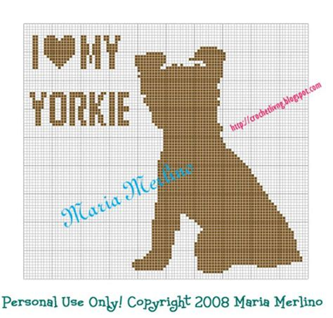 my yorkie died crochet living i my yorkie crochet chart or graph