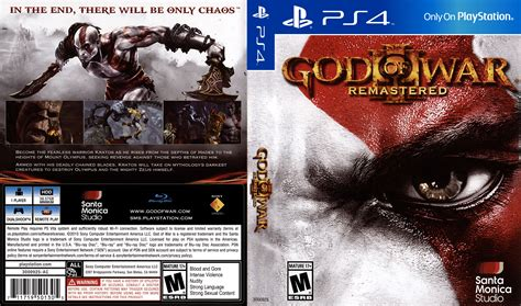 Dvd Ps4 God Of War god of war iii remastered dvd cover 2015 usa ps4