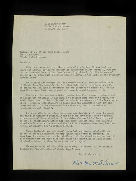 Expulsion Appeal Letter Sle A Member Of The Rock Nine Shares Memories National Museum Of American History
