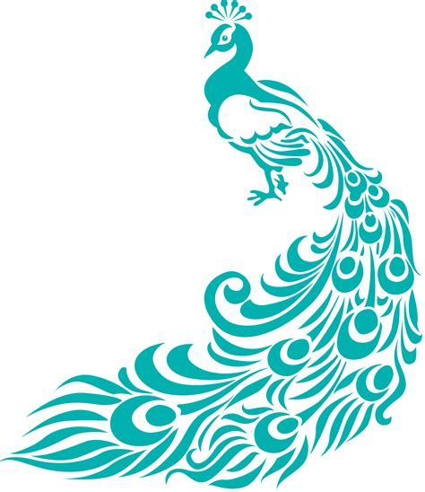 peacock pattern vector peacock image clipart best