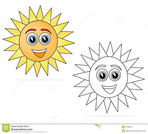 mr sun coloring page happy sun cartoon stock illustration illustration of book